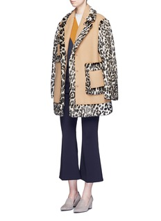 Stella McCartneyFootball stripe virgin wool-silk sweater