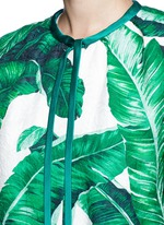 Banana leaf print brocade jacket