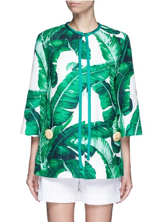 Main View - Click To Enlarge - Dolce & Gabbana - Banana leaf print brocade jacket