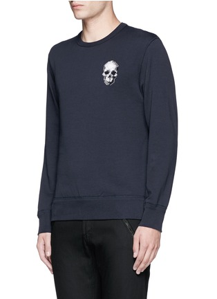 Front View - Click To Enlarge - Alexander McQueen - Skull embroidery sweatshirt