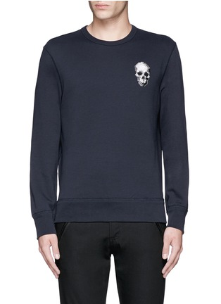 Main View - Click To Enlarge - Alexander McQueen - Skull embroidery sweatshirt