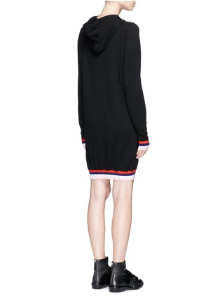 Back View - Click To Enlarge - Emilio Pucci - Wool-silk-cashmere hooded knit dress