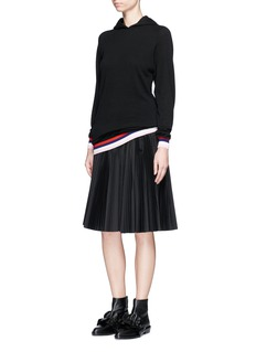 Emilio Pucci Wool-silk-cashmere hooded knit dress