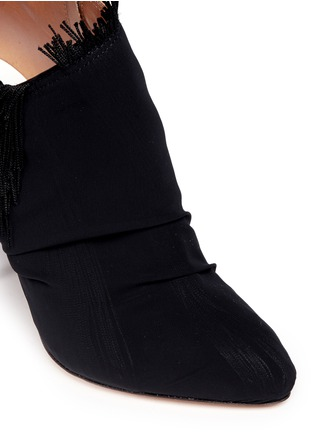 Detail View - Click To Enlarge - MAISON MARGIELA SHOES - Asymmetric fringe suede booties