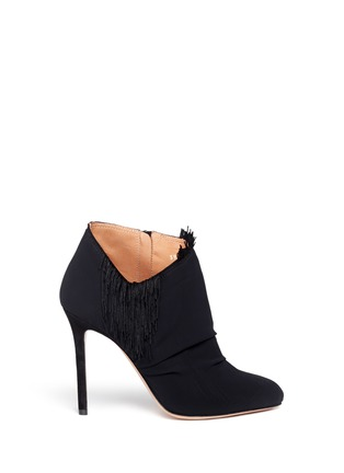 Main View - Click To Enlarge - MAISON MARGIELA SHOES - Asymmetric fringe suede booties