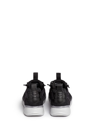Back View - Click To Enlarge - Reebok - 'FuryLite TM' diamond mesh sneakers