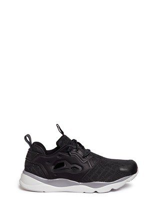 Main View - Click To Enlarge - Reebok - 'FuryLite TM' diamond mesh sneakers
