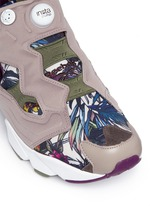 'InstaPump Fury SG' botanical print sneakers