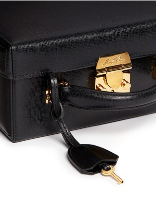 Detail View - Click To Enlarge - Mark Cross - 'Grace Box' large saffiano leather trunk