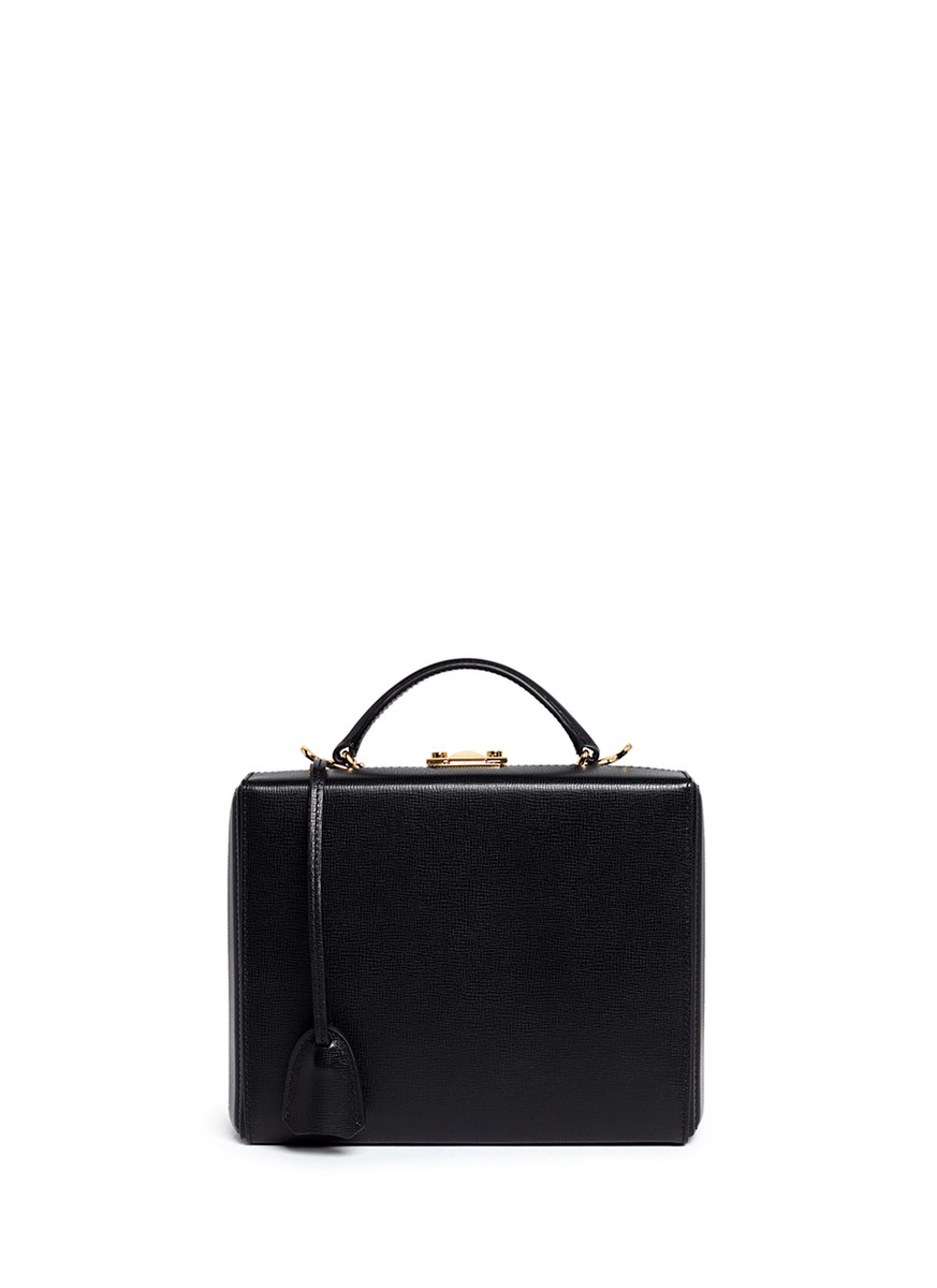 Grace Box large saffiano leather trunk by Mark Cross