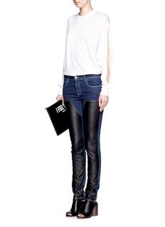 GIVENCHYLeather patch denim jeans