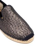'Sandrinne' metallic basketweave leather espadrille slip-ons