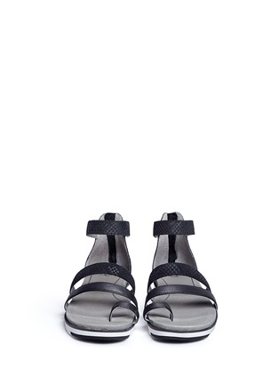 Front View - Click To Enlarge - Ugg Australia - 'Zina' snakeskin embossed leather strappy sandals