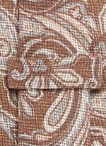 Paisley print wool-silk tie