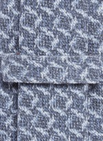 Square print wool-silk tie