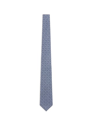 Main View - Click To Enlarge - ISAIA - Square print wool-silk tie