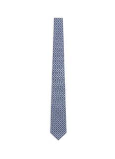 ISAIA Square print wool-silk tie
