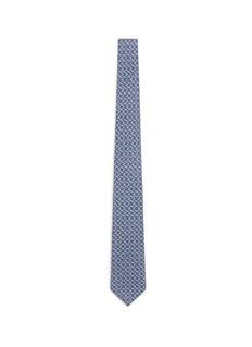 ISAIASquare print wool-silk tie