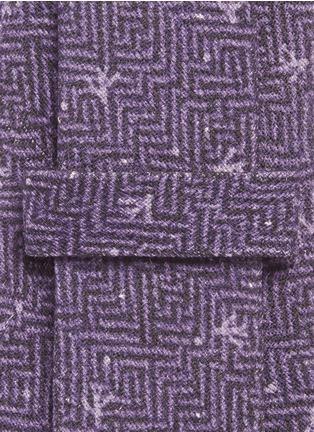 ISAIA-Coral dot print herringbone tie