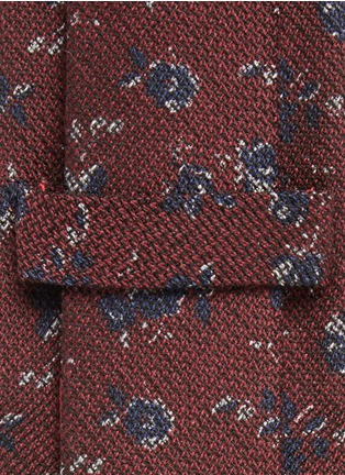 Detail View - Click To Enlarge - ISAIA - Floral print wool-silk tie
