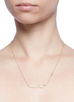 'Unstable' diamond pavé pearl 18k gold pendant necklace