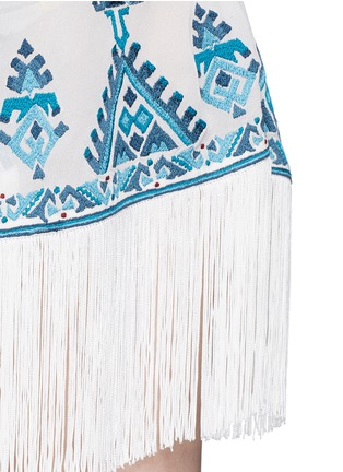 Detail View - Click To Enlarge - Talitha - 'Moroccan Kumari' embroidery silk crepe wrap cover-up