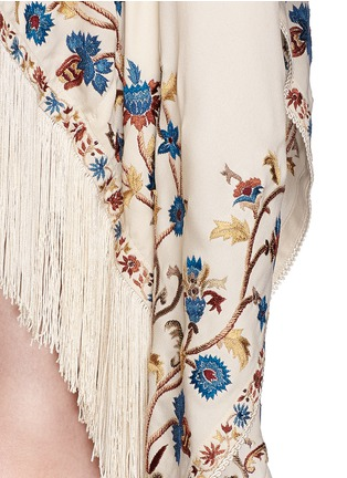 Detail View - Click To Enlarge - Talitha - 'Moroccan Tara' floral embroidery silk crepe cover-up