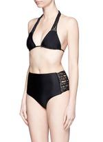'Raiatea' lattice halter triangle bikini top