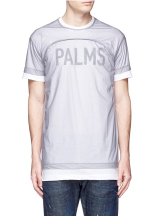 Main View - Click To Enlarge - Dsquared2 - 'PALMS' print double layer T-shirt