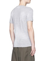 Tropical maple leaf print T-shirt