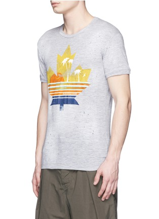 Front View - Click To Enlarge - Dsquared2 - Tropical maple leaf print T-shirt