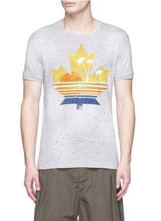 Main View - Click To Enlarge - Dsquared2 - Tropical maple leaf print T-shirt