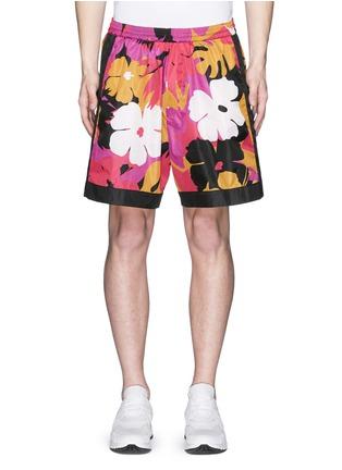Main View - Click To Enlarge - Dsquared2 - Hawaiian floral print shorts