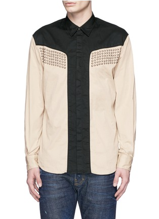 Main View - Click To Enlarge - Dsquared2 - Stud gabardine cowboy shirt
