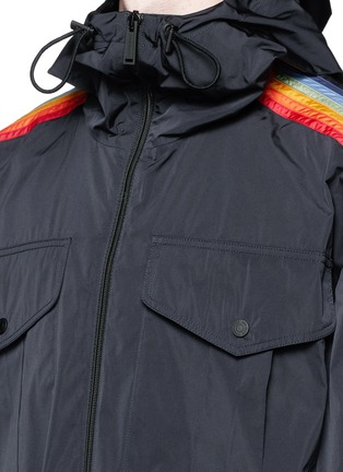 Detail View - Click To Enlarge - Dsquared2 - Rainbow appliqué short parka