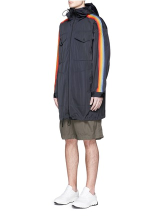 Front View - Click To Enlarge - Dsquared2 - Rainbow appliqué short parka