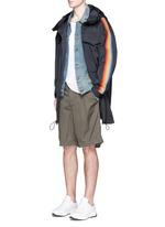 Rainbow appliqué short parka