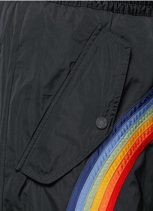Dsquared2-Rainbow appliqué zip cuff pants