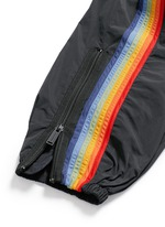 Rainbow appliqué zip cuff pants