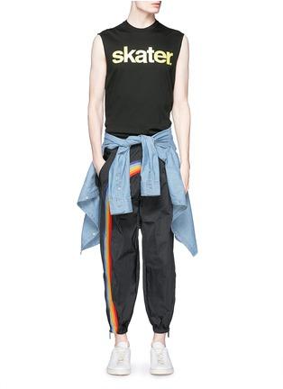 Figure View - Click To Enlarge - Dsquared2 - Rainbow appliqué zip cuff pants