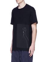 x Mason Mulholland oversize flower print raw silk T-shirt