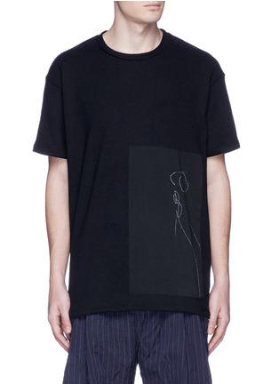 Song for the Mute - x Mason Mulholland oversize flower print raw silk T-shirt