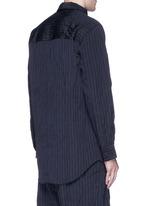 Crinkled pinstripe pocket shirt
