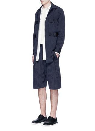 模特儿示范图 - 点击放大 - SONG FOR THE MUTE - 褶裥设计竖纹皱面短裤