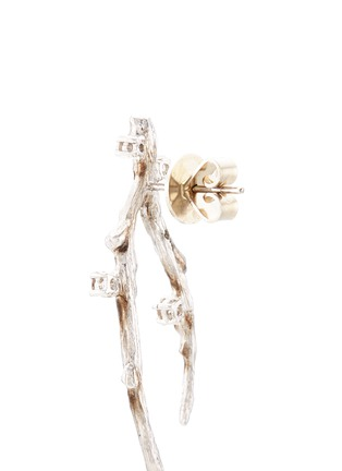Detail View - Click To Enlarge - Heting - 'Dewdrop' diamond rhodium 18k white gold drop earrings