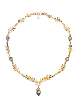 Main View - Click To Enlarge - Heting - 'Pinecone' tsavorite pearl 18k gold necklace