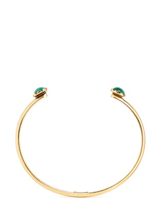 Main View - Click To Enlarge - Ela Stone - 'Ana' malachite slim cuff