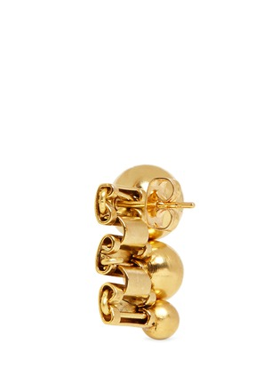 Detail View - Click To Enlarge - Ela Stone - 'Barbara' sphere watch chain stud earrings