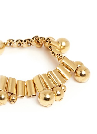 Detail View - Click To Enlarge - Ela Stone - 'Barbara' sphere watch chain brass bracelet