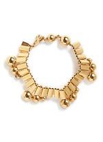 'Barbara' sphere watch chain brass bracelet